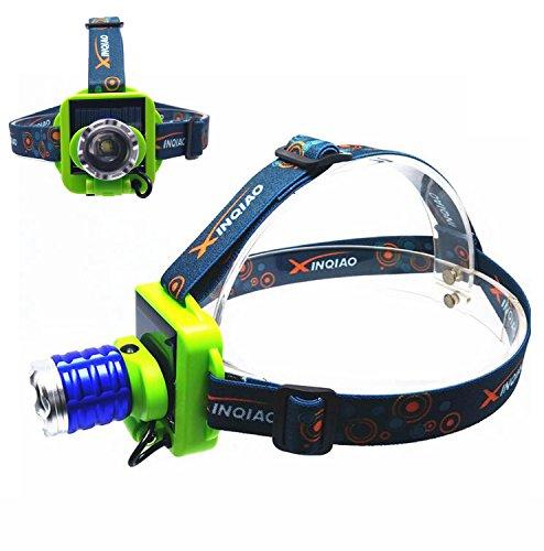 Solar charging LED Headlamp Glare Rechargeable Flashlight Long-range Hunting Night Light Lamp