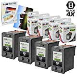 LD © Remanufactured Replacement for Hewlett Packard (HP 27) C8727AN Set of 4 ink Cartridges & FREE 20pk of LD 4X6 Photo Paper