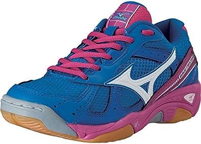 Mizuno - Zapatillas de voleibol de Lona para mujer Azul azul 40.5 azul Blu/Fuxia Talla:40.5: Amazon.es: Deportes y aire libre