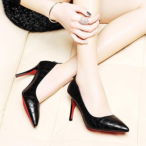 black Hauts Forte Nouveau KHSKX Pied Chaussures Talons Unique Des Mis Chaussures Femmes Et Chaussures Femmes Les Printemps Minces Le pqgIgSnBU