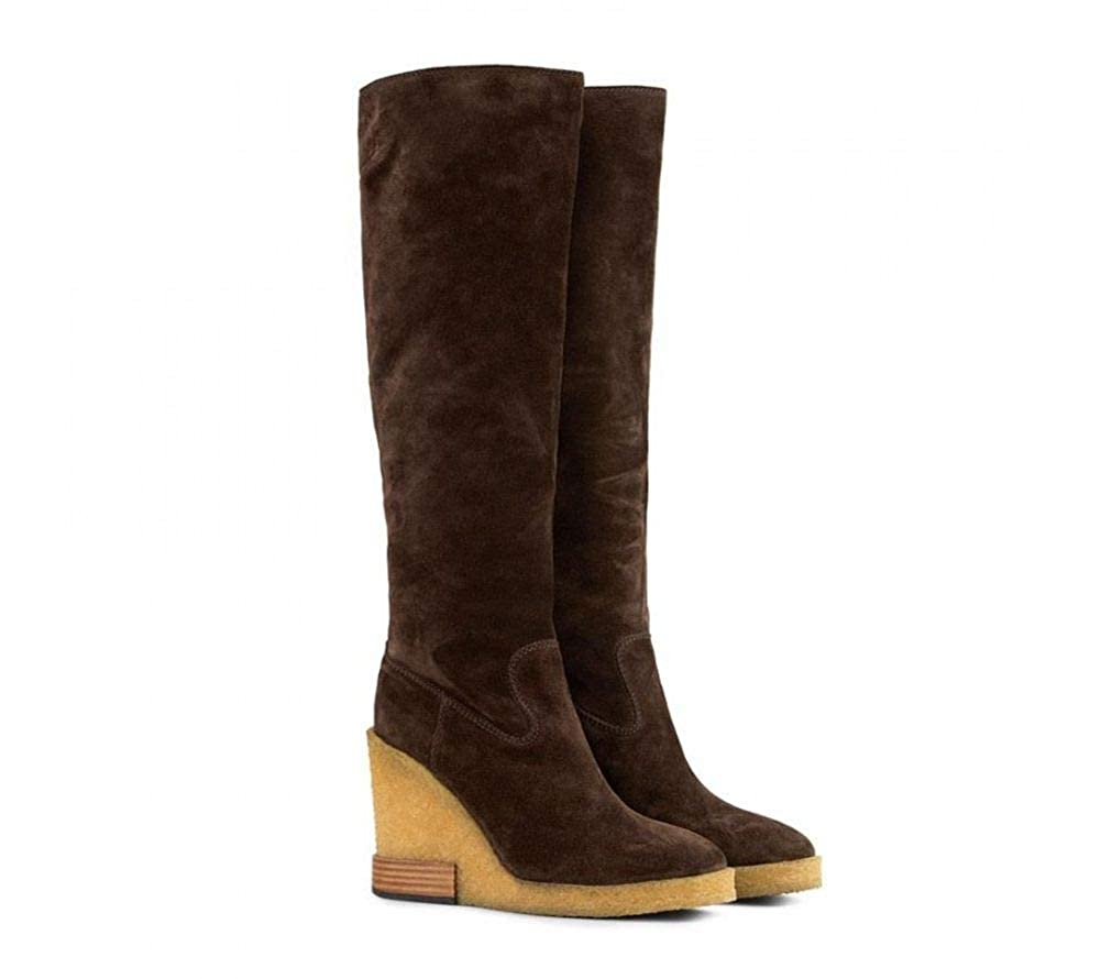 - Tod's Women's XXW18B0Z990BYES611 Brown Fabric Boots
