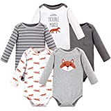 Hudson Baby Unisex Baby Long Sleeve Cotton Bodysuits: more info