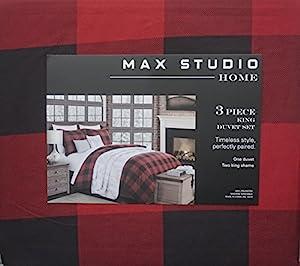 Max Studio Bedding 3 Piece Duvet Cover Set