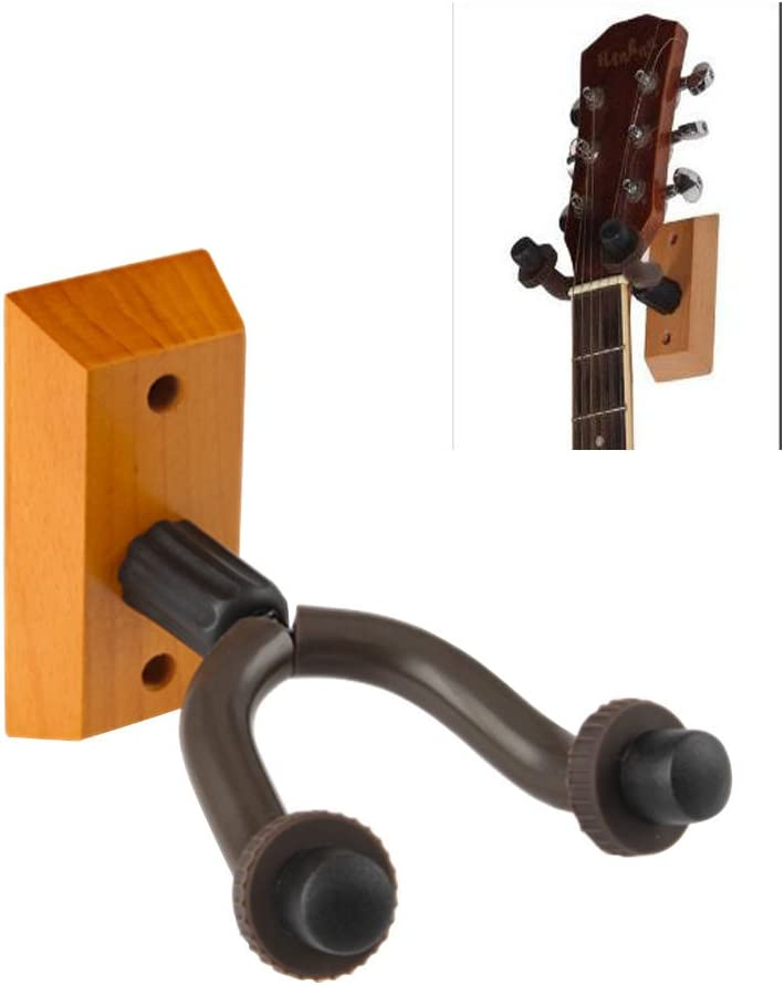 Sturdy Guitar Hanger Stand Holder Hooks Wall Mount Display 2 Pack