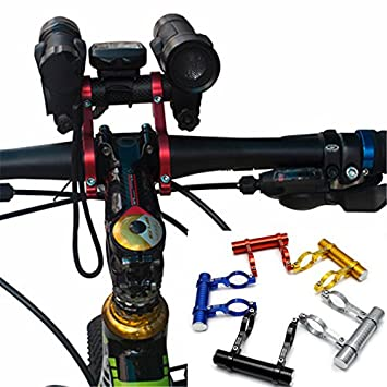 bicycle bike carbon fiber Double Handlebar mount extension for computer lights