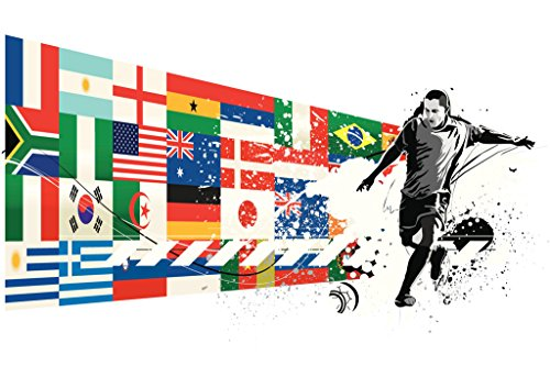 Soccer National Teams Flags Sports Poster 12x18 inch
