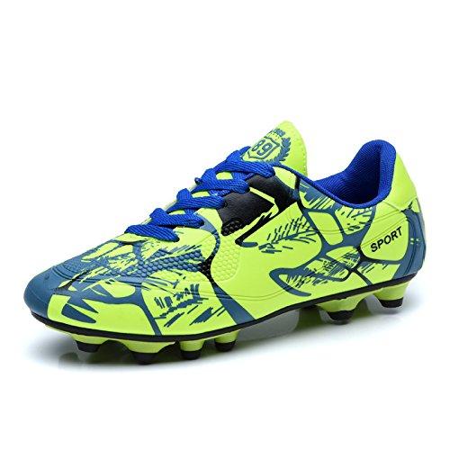XING Lin Fußball Schuhe Kinder Fußball Schuhe Kinder Kinder große Wiese rutschsicherer Teens Spikes Jungen und Mädchen Nägel Füße grün