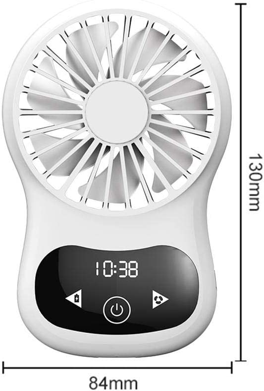 Lorchwise YX-10 Mini Handheld Fan Portable Touch Switch Time Digital Display Small Fan for Home Office Travel ABS+PC