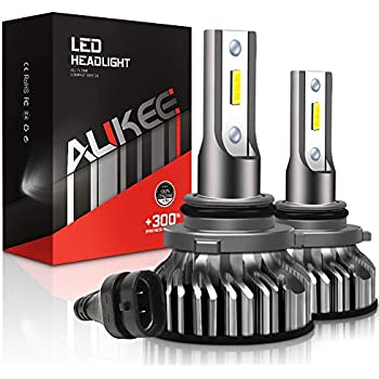 Aukee 9006 LED Headlight Bulbs, 50W 6000K 10000 Lumens Extremely Bright HB4 CSP Chips Conversion Kit