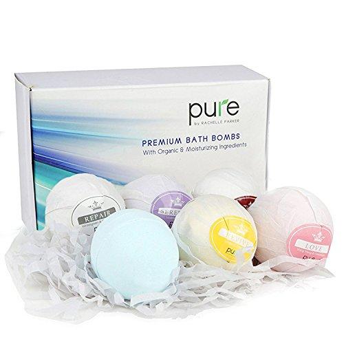 Bath Fizzer Gift - Lush Bath Bombs Set. Organic Bath Bomb Kit for Women & Kids. 8 Bubble Bath Bombs Gift Set. Spa Gift Baskets for Women contains Organic Bath Bombs. Bubble Bath Fizzers are Best Bath Bombs (6 pack)