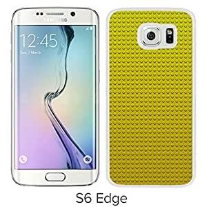 New Custom Designed Cover Case For Samsung Galaxy S6 Edge With Lego Toy Yellow Gold Block Pattern Wallpaper (2) Phone Case