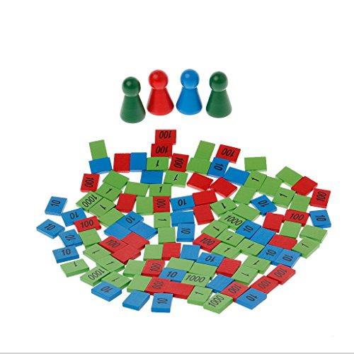 JAGENIEモンテッソーリ木製のスタンプゲームの数学のおもちゃキッズの子供初期のおもちゃのギフトクリスマスお正月ギフト、1 PC、ランダムの配達