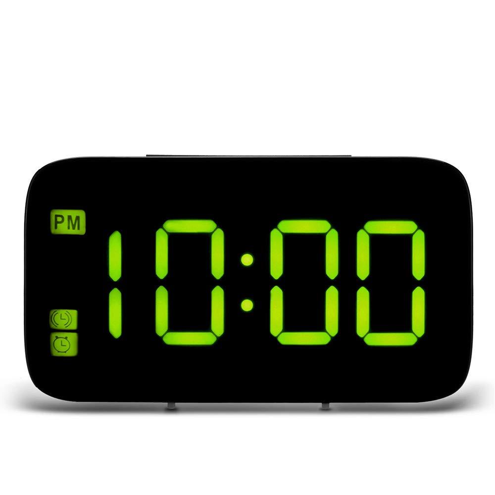 Table de Bureau Houkiper R/éveil Num/érique R/étro/éclairage Nocturne Charge USB Horloges avec Fonction Snooze Commande Vocale Bleu Affichage /à LED
