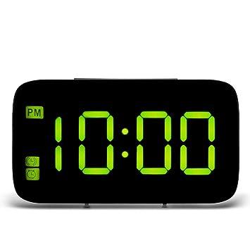 TiooDre Despertador, LED Alarma Digital Pantalla LED Control de Voz Snooze Nocturna retroiluminación de Mesa