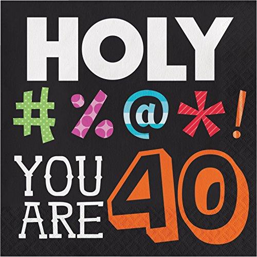 Holy Bleep 40th Birthday Napkins, 48 ct ()