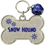 Gloria Duchin ''Snow Hound'' AB Glitter Pet Collar Tag