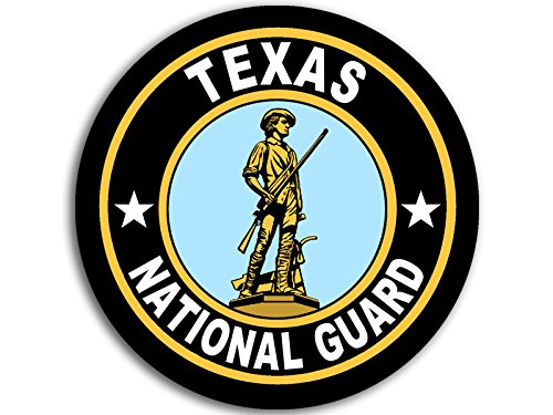 (American Vinyl Round Texas National Guard Seal Sticker (Logo Insignia Army))
