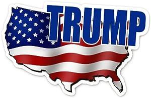 "Trump Sticker Decal Vinyl Patriotic USA Sticker 6.25"" x 4"" - 2 Pack"