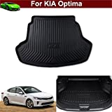Hot Sale 1pcs Leather Car Boot Liner Rear Trunk Pretect Mat Trunk Tray Trunk Cargo Liner Mat Cargo Tray Floor Mat Custom Fit For KIA Optima 2011 2012 2013 2014 2015 2016 2017