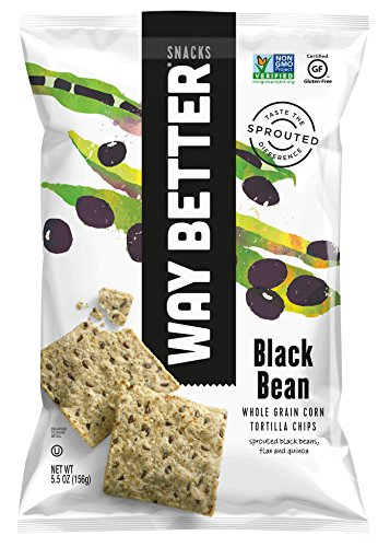 Way Better Snacks Tortilla Chips, Black Bean, 5.5 Ounce ()