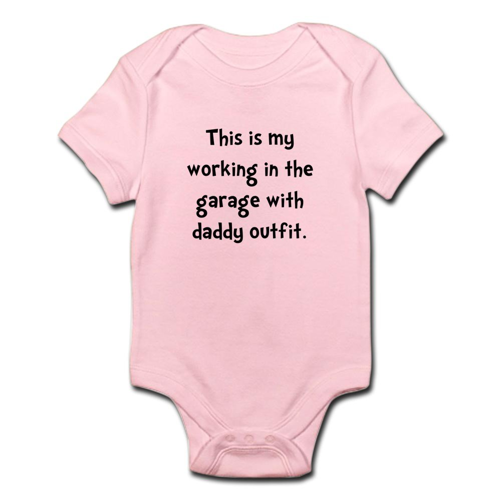 CafePress - Working Daddy Garage Body Suit - Cute Infant Bodysuit Baby Romper