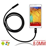 USB Endoscope, eBerry 2 in 1 Micro USB Borescope Waterproof Inspection Snake Camera with LED Rigid-Flexible Endoscope OTG for Android Smart Phones, Tablets & Computer PC Laptop - 5m/16.5ft (Φ8mm)