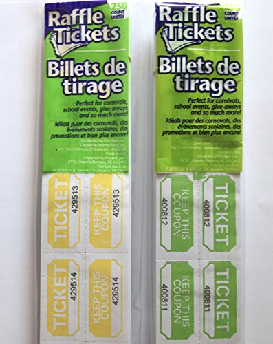 yellow double raffle ticket roll - 9