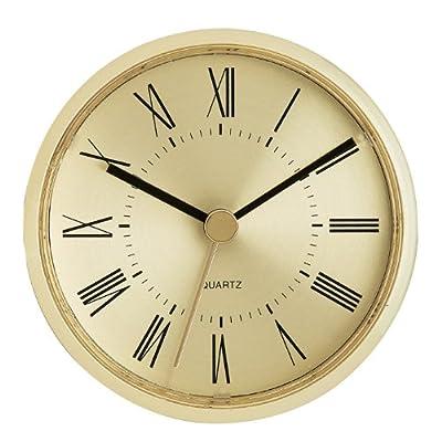 "3-1/8"" Gold Roman Clock Insert - Overall Diameter: 3-1/8"" Mounting Depth: 7/8"" Mounting Diameter: 3"" - wall-clocks, living-room-decor, living-room - 51 KV06CLUL. SS400  -"