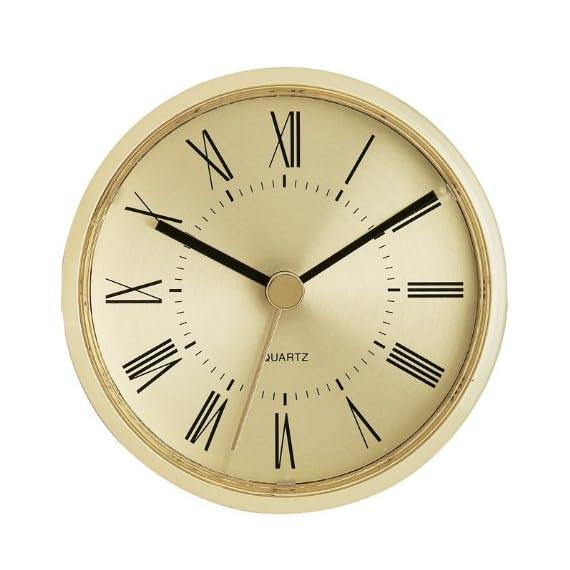 "3-1/8"" Gold Roman Clock Insert - Overall Diameter: 3-1/8"" Mounting Depth: 7/8"" Mounting Diameter: 3"" - wall-clocks, living-room-decor, living-room - 51 KV06CLUL. SS570  -"
