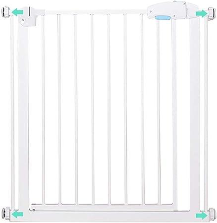 Puertas de bebé Puertas metálicas para bebés para escaleras y pasillos, Puertas Protectoras de Seguridad para Mascotas con Puerta para Perros y Gatos, se Ajusta a 76-84cm de Ancho, Blanco: Amazon.es: Hogar