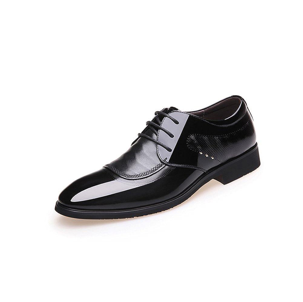 LYZGF Herren Business Casual Spitz Schuhe Atmungsaktive Herrenschuhe Frühjahr und Herbst