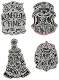 Stampers Anonymous CMS286 Tim Holtz Cling Stamps 7''X8.5''-Doodle Greetings #2