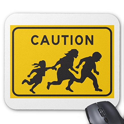 Crossing Highway Sign (Zazzle Illegal Aliens Crossing Highway Sign Mouse Pad)