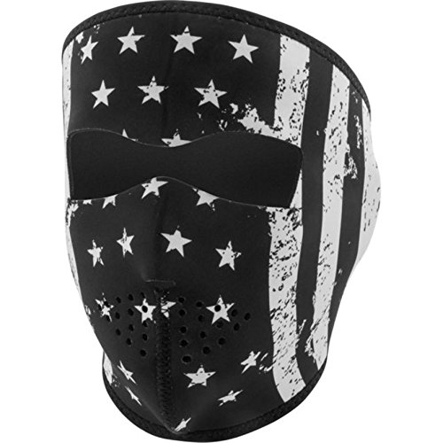 Zan Headgear Adult Neoprene Full-Face Masks One Size Black/White Vintage Flag