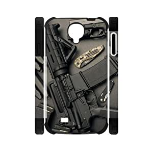 Canting_Good Weapons ammo guns Custom Dual-Protective Case Shell Skin for Samsung Galaxy S4 I9500 3D