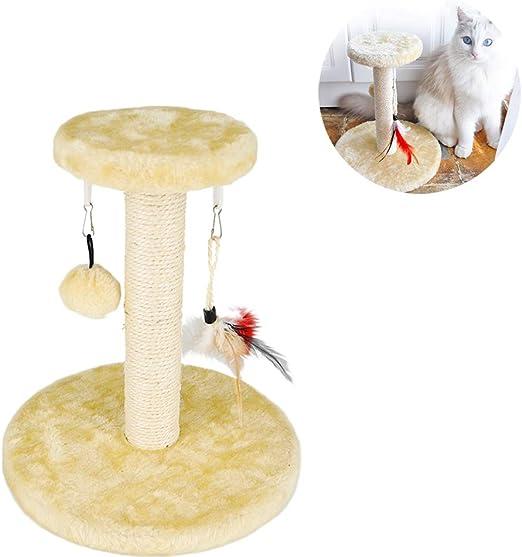 BYFWA Rascadores para Gatos, Árbol para Gatos Arañazo Gatos Juguetes de Sisal Natural, Cat Toy Centro de Actividad para Gatitos, Regalo para Mascotas: Amazon.es: Hogar