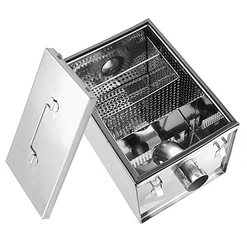 Industrial Kitchen Grease Trap: Yescom 8lbs 5GPM Gallon Per Minute Stainless Steel Grease