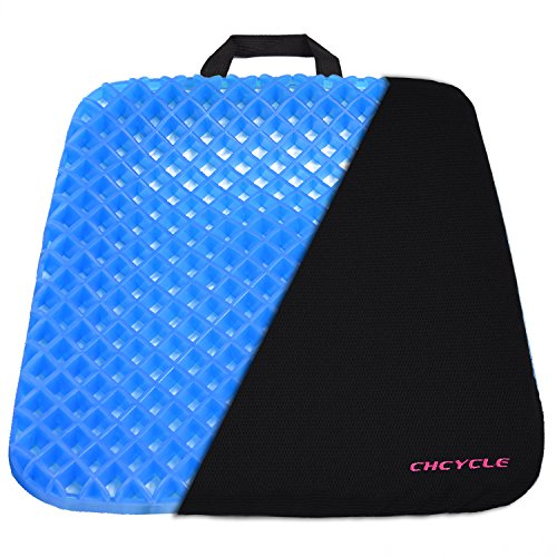 Coccyx Support Cushion - Gel Seat Cushion Coccyx Seat Support Premium All Gel Cushion Air Circulation and Advanced Elastic Cool Gel Seat Cushion Ergonomic Designed for Office Chair, Car Seat and Wheelchair Welcome Egg Test