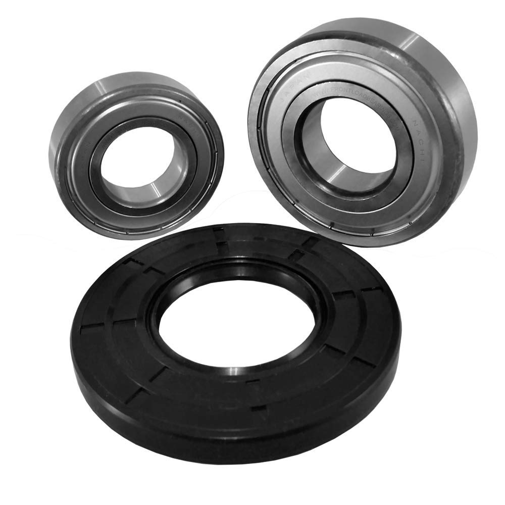 Nachi Front Load Kenmore Washer Tub Bearing and Seal Kit Fits Tub W10772617 (5 year replacement warranty and full HD''How To'' video included)