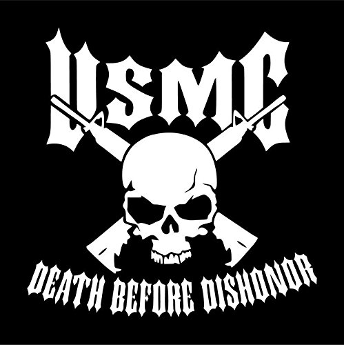 USMC Marine Corps Death Before Dishonor Vinyl Decal