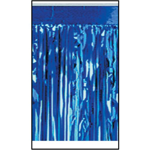 Pkgd 2-Ply FR Metallic Fringe Drape (blue) Party Accessory  (1 count) (1/Pkg) (Oktoberfest Banner Fringe)