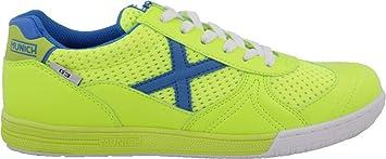 Zapatillas de fútbol Sala MUNICH G-3 Indoor Lima-Azul (39 EU,
