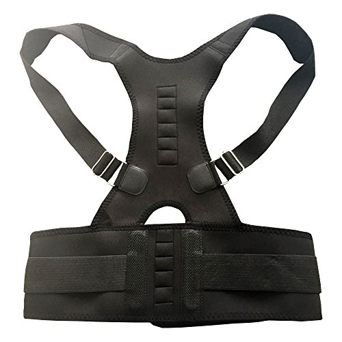 Posture Corrector: Lumbar Support Belt for Back Pain Relief|Breathable Adjustable Upper Back Support Brace for Men & Women|Back Posture Corrector for Spine Alignment & Right Body Posture
