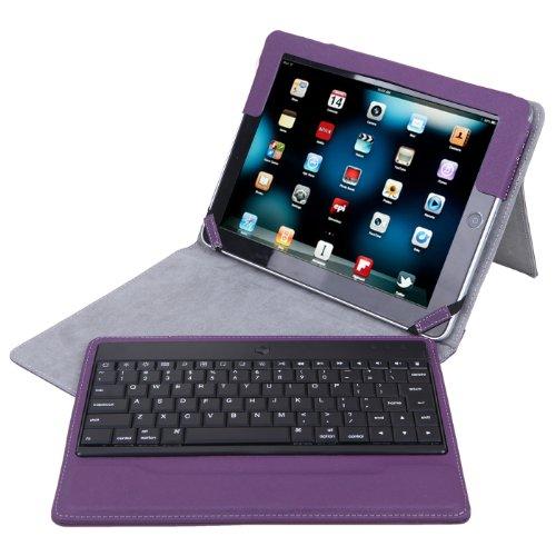 ipad 2 keyboard case purple - 8
