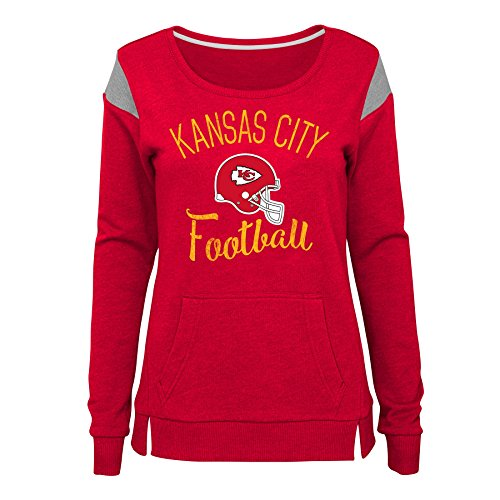 Outerstuff NFL NFL Kansas City Chiefs Juniors Classic Crew French Terry Pullover Red, Juniors Small(3-5) - Kansas City Chiefs Crew Sweatshirt