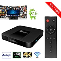 Sawpy Tanix Smart tv box Android 7.1 Amlogic 1GB+16GB 4K UHD WiFi & LAN VP9 DLNA H.265