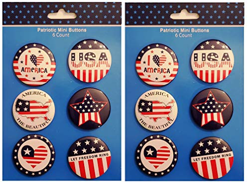 """Patriotic Mini Buttons 