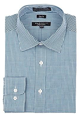 MARQUIS Men's Checkered Slim Fit Dress Shirt