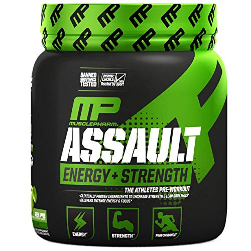 MusclePharm Assault Sport, Green Apple, 0.8 Pound