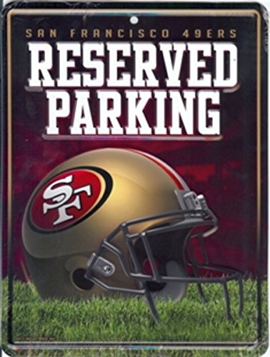 NFL San Francisco 49ers 8-Inch by 11-Inch Metal Parking Sign Décor ()